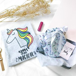 Magically You Unicorn Gift Set (1 Tee + 1 Lounge Shorts)