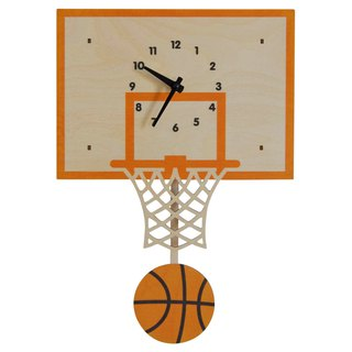 modern moose-3D clock-basketball-pendulum-clock