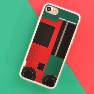 Retro Means of Transports in Hong Kong Style Designe iPhone 8 / iPhone 8 Plus