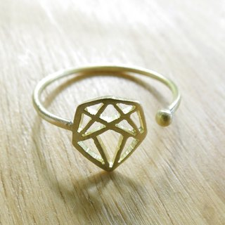 WABY Geometric diamond ring