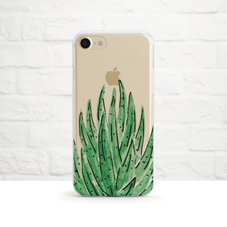 Aloe Vera, Succulent Plant, Clear Soft Phone Case, iPhone X, iphone 8, iPhone 7, iPhone 7 plus, iPhone 6, iPhone SE, Samsung