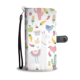 Llamas Design Premium Wallet Phone Case