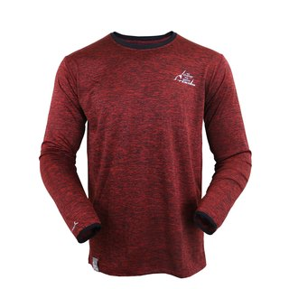 ✛ tools ✛ NAKEDT mixed yarn red long-sleeved TEE :: :: :: casual comfort