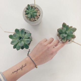 "cottontatt ""imperfect"" calligraphy temporary tattoo sticker"