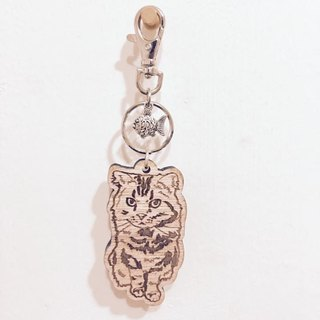 Lectra cats wood duck ♣ ♣ (customized) exclusive boutique key ring / necklace cat [articles] \ threw a postcard dogs and cats
