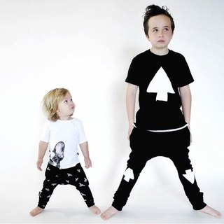 Nordic Organic Cotton Children's Swim Pants Duck Black Baggy Pants Black Raven