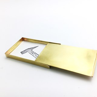 Pure brass business card case