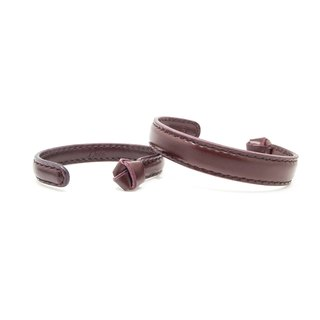 Leather Bangle / Couple Bangle / Reddish Brown / Leather / Accessories / Bracelet