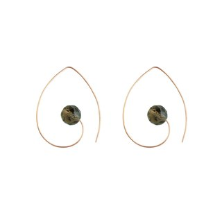 SMOKY SWIRL Classic 14K Rose Gold Alloy Tea Earrings