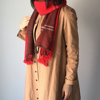 Unisex Scarf/Brown and Red Mix