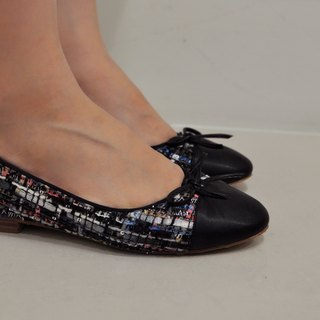 Flat 135 X Taiwan Designer Flat135 The First Exclusive Custom-Made Shoes Woven Flat Flats Dolls Shoes Low Heels Black Pink