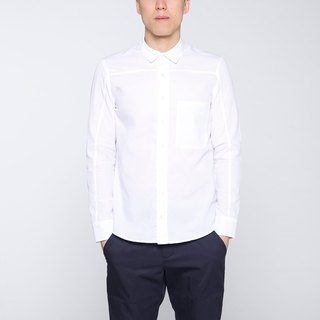 CA Merrill Shirt Qiangnian splicing long-sleeved men's shirts - White
