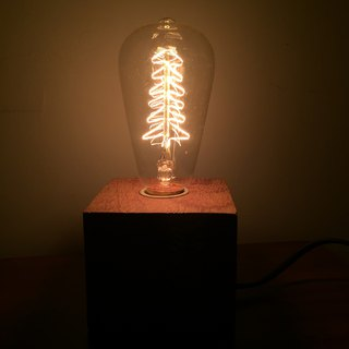 Hand made wood lamp