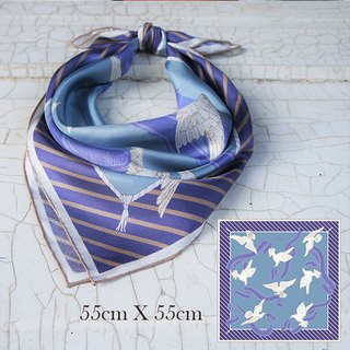 GT ribbon flying pigeon side scarf