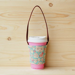 Owl Illustration Beverage Bag/Cup Set