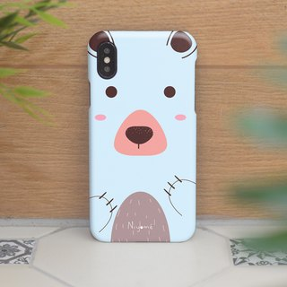 iphone case the pastel blue bear for iphone5s,6s,6s plus, 7,7+, 8, 8+,iphone x