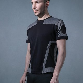 Multi-dimensional black machine jacket (gray)