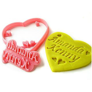Custom Heart Cookie Cutter, Personalized with 2 Names, Wedding/Anniversary Gift