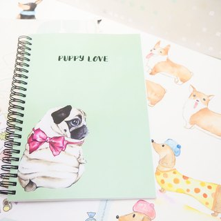 A5 Coil Bag Notebook パグ POPPY LOVE