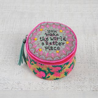 Embroidered Jewelry Box - Better Place│BAG209