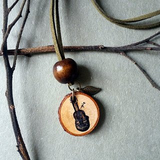 Hand-painted necklace / pendant (guitar)