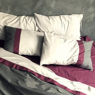 Between me and you _100% Turkish organic cotton GOTS & OCS certified tricolor colour matching pillow covers
