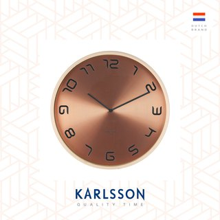 Karlsson, Wall clock Bent wood copper plated
