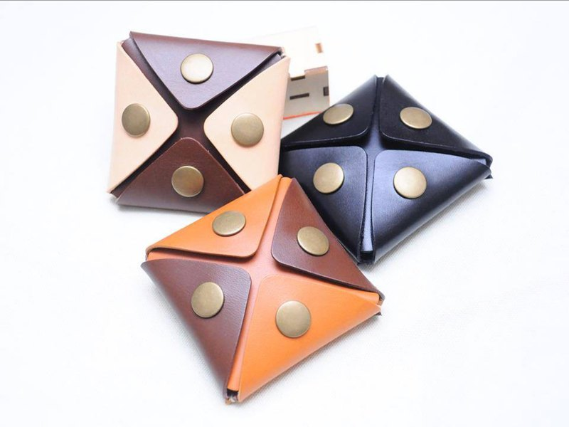 東南西北 零錢包 好好縫 皮革材料包 免費刻名 手工包 情侶禮物