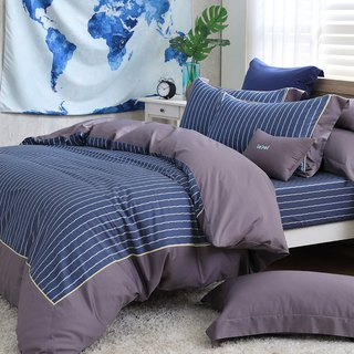 (Extra large) Moonlight - British Seal - High quality 60 cotton dual-use bed pack four-piece group [6*7 feet]