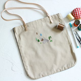 Elephant two-tone tote bag  Handmade shoulder bag I Story_Similar