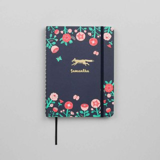 Flower Fox Emblem A5 Notebook / Sketchbook