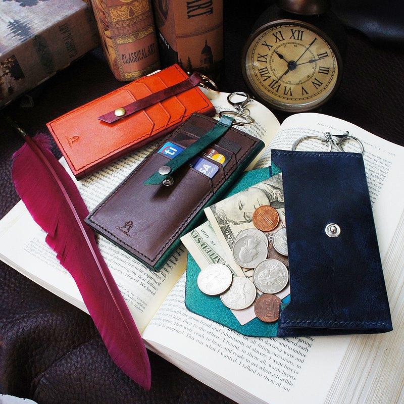 Owen 歐恩隨身皮夾鑰匙圈-共3色 禮物