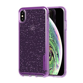 Tech 21 Anti-collision Hard Bubble Protection Case - iPhone Xs - Purple (5056234707418)