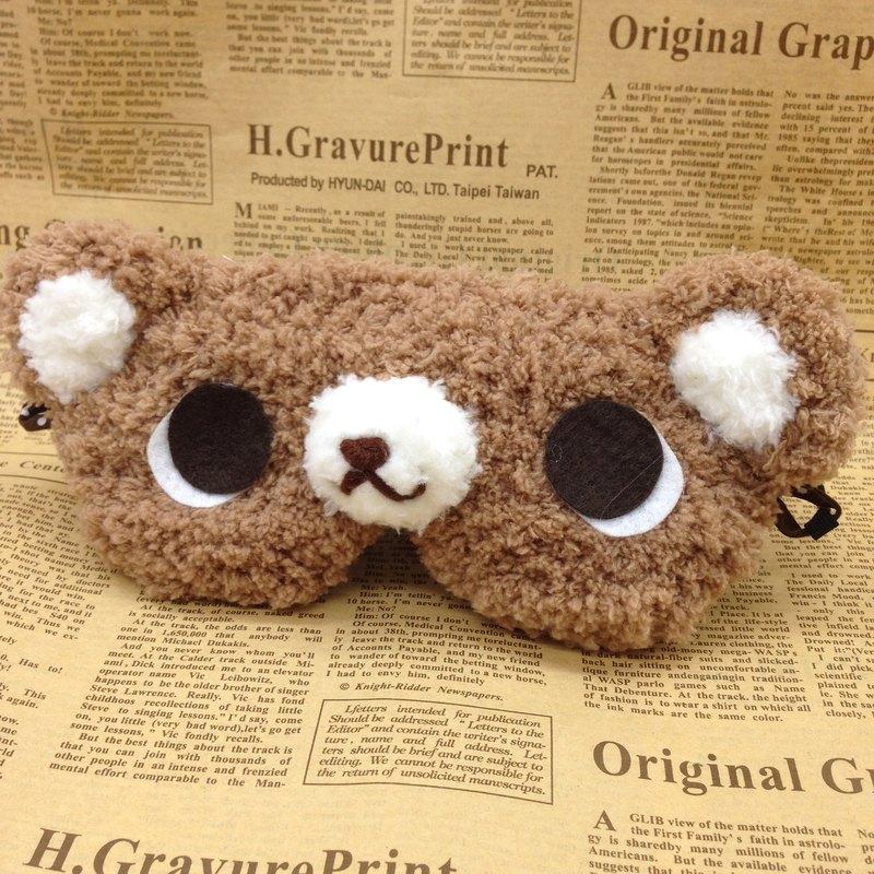 棉花糖動物眼罩-焦糖熊