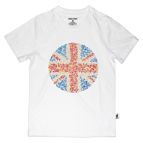 British Fashion Brand [Baker Street] Color Blindness UK Printed T-shirt For Kids
