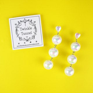 Pearl mermaid hanging earrings