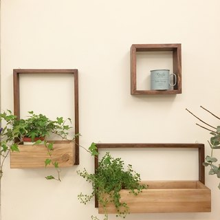 (Planting) Drying on the Wall (wall hanging A+B) Gifting small square wooden frame containing plants