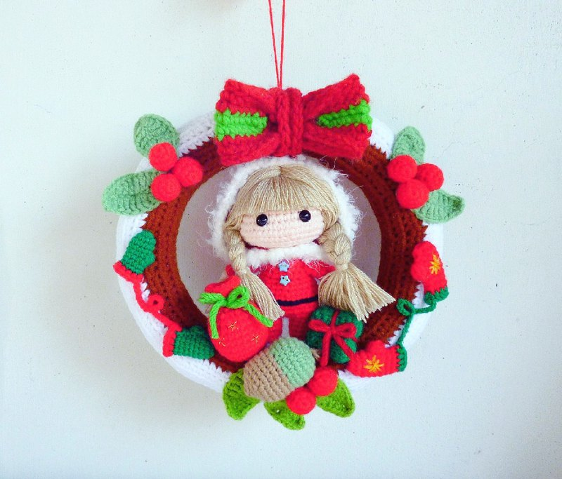 (Christmas limited edition one) Nordic style Christmas granny woven Christmas wreath
