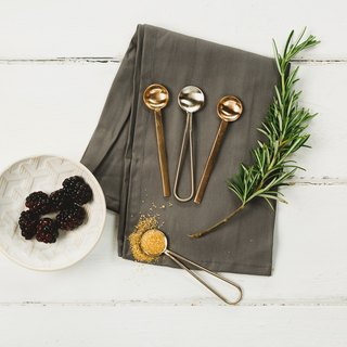 【UK】●4 Gold & Copper Spoons●  The Just Slate Company