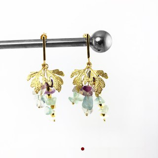 Exquisite -925 Silver Gold Plate Earrings 【Harvest Grapes】II