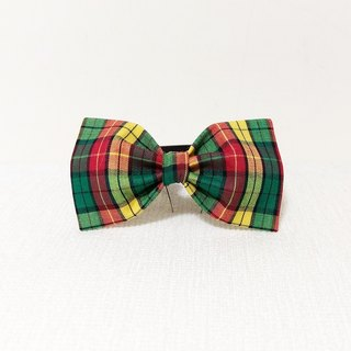 Ella Wang Design Bowtie Pet Bow Tie Bow Cat Dog Plaid Gentleman
