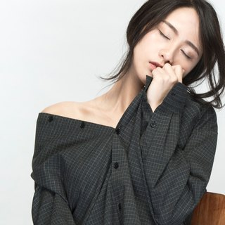 hao Plaid Shirt fine grid woolen sweater