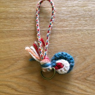 Folk customs key ring lake green small flower