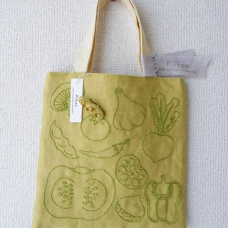 Vegetable tote bag part 2 _ green