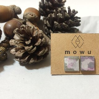 (MoWu ∷ something ∷) cement products cement stainless steel earring earring Christmas gift exchange (random dispensing)