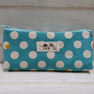 Blue and green little point Chai pen pen bag - storage bag