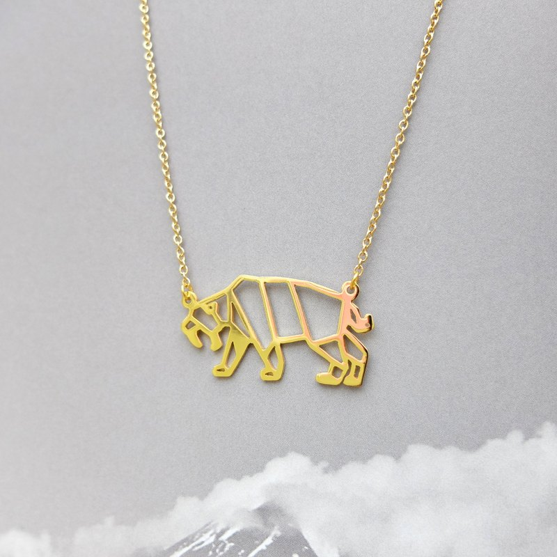 Saber-tooth, Origami Necklace, Dinosaur Necklace, Dinosaur gifts