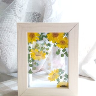Pressed flower artwork,Home Decor,layering in a box frame