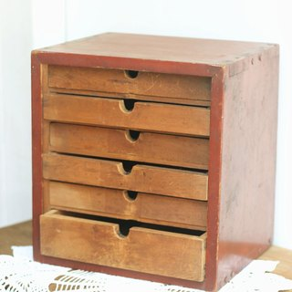 【Good day fetus】 Japanese vintage antique file storage cabinet