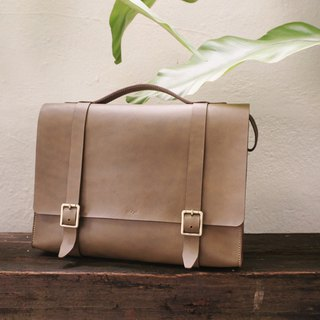 Olive Green Leather Messenger Bag for Men - Work Bag / Laptop Bag / Sling bag